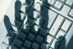 Het Binnendringen in een beveiligd computersysteem van de computer Stock Foto's