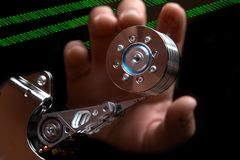 Het binnendringen in een beveiligd computersysteem van gegevens Royalty-vrije Stock Afbeeldingen
