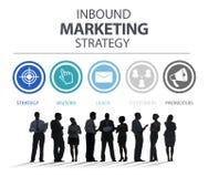 Het binnenkomende Marketing Strategiereclame Commerciële Brandmerken Royalty-vrije Stock Foto's