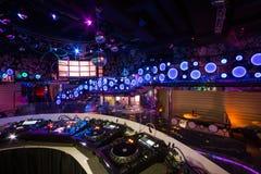 Het binnenland van één van de ruimten van de nachtclub Pacha Stock Foto's