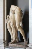 Het binnenland van één van de ruimten van het Museum van Vatikaan stock foto's