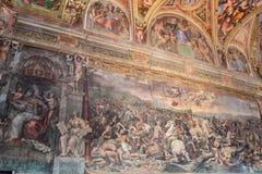 Het binnenland van één van de ruimten van het Museum van Vatikaan stock fotografie