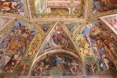 Het binnenland van één van de ruimten van het Museum van Vatikaan royalty-vrije stock fotografie