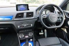 Het Binnenland van Audi RS Q3 2014 Stock Afbeelding
