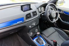 Het Binnenland van Audi RS Q3 2014 Royalty-vrije Stock Foto's