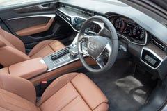 Het Binnenland van Audi A6 55 TFSI 2018 stock fotografie