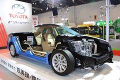Het binnenland van camry hev van Toyota Royalty-vrije Stock Fotografie