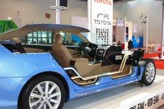 Het binnenland van camry hev van Toyota Royalty-vrije Stock Foto