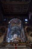 Het binnenland van Chiesa Di Ognissanti is een kerk in Florence Royalty-vrije Stock Foto