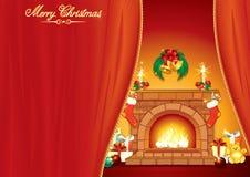 Het Binnenland van Christmases Stock Afbeelding