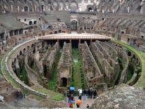 Het binnenland van Colosseum royalty-vrije stock afbeelding
