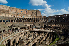 Het binnenland van Colosseum Royalty-vrije Stock Afbeeldingen