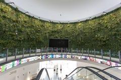 Het binnenland van het Coreapaviljoen in Expo, universele expositie over stock fotografie