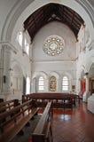 Het binnenland van de Al Anglicaanse Kerk van Heilige in Galle-Fort in Sri Lanka Stock Afbeeldingen