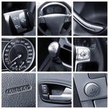 Het binnenland van de auto - collage Stock Afbeelding
