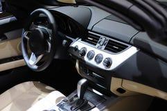 Het binnenland van de Auto van BMW Stock Foto