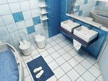 Het binnenland van de badkamers Stock Foto