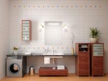 Het binnenland van de badkamers Royalty-vrije Stock Foto's