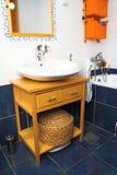 Het binnenland van de badkamers - gootsteen Stock Foto's