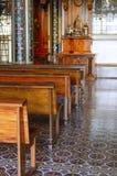 Het binnenland van de basiliek royalty-vrije stock foto's