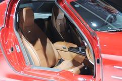 Het binnenland van de Benz sls amg Auto van Mercedes Royalty-vrije Stock Foto