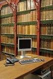 Het binnenland van de bibliotheek Stock Foto's