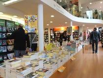 Het binnenland van de boekhandel in Rome Stock Afbeelding