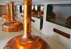 Het binnenland van de brouwerij Royalty-vrije Stock Foto