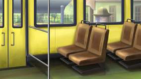 Het binnenland van de bus stock illustratie
