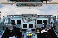 Het binnenland van de cockpit stock foto