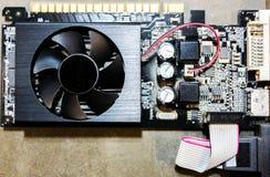 Het binnenland van de computerhardware stock foto
