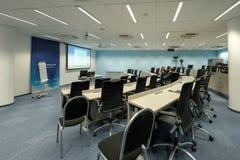 Het binnenland van de conferentiezaal bij Skolkovo-Campus Stock Afbeelding