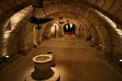 Het binnenland van de crypt Stock Afbeeldingen