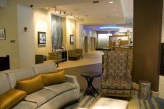 Het binnenland van de de halwoonkamer van het luxehotel Stock Afbeelding