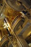 Het binnenland van de de operazaal van Parijs Stock Foto's