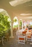 Het binnenland van de de zomerkoffie van Beautful Royalty-vrije Stock Foto's