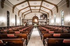 Het binnenland van de Drievuldigheid verenigde Kerk van Christus in York, Pen stock afbeelding