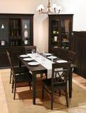 Het binnenland van de eetkamer Stock Afbeeldingen