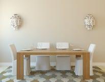 Het binnenland van de eetkamer Royalty-vrije Stock Afbeeldingen