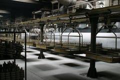 Het binnenland van de fabriek stock afbeelding