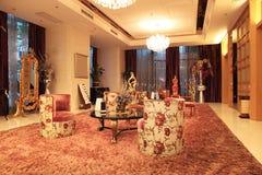 Het binnenland van de hotelhal Stock Foto's
