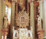 Het binnenland van de kathedraal Stock Foto