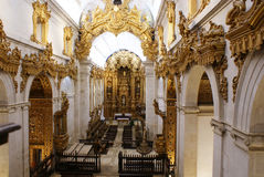 Het Binnenland van de kathedraal Stock Afbeeldingen