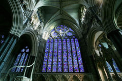 Het Binnenland van de Kathedraal van Lincoln Stock Foto's