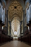 Het binnenland van de Kathedraal van Salisbury royalty-vrije stock fotografie