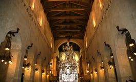 Het binnenland van de Kathedraal VAN SYRACUSE Royalty-vrije Stock Foto's