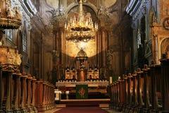 Het binnenland van de kerk Royalty-vrije Stock Foto's