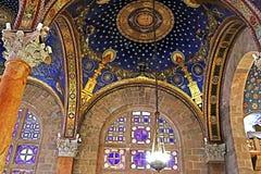 Het binnenland van de Kerk van Al Natiesbasiliek van de Ondraaglijke pijn in Jeruzalem stock afbeeldingen