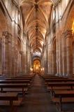 Het binnenland van de Kerk van heilige Peter in Avila Stock Afbeelding