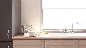 Het binnenland van de keuken Stock Foto's